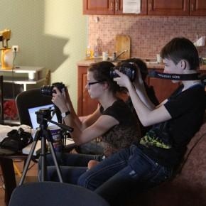 Настройка камер перед съёмкой клипа: Александрина Колодинская и Алексей Жигалкович (Минск, Беларусь, 2011 год)