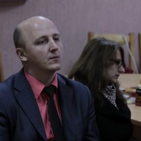 Михаил Шпилевский, Алёна Ясинская консультируют молодых режиссёров (Видеорадиус, БНТУ, Минск, Беларусь, 2011 год).