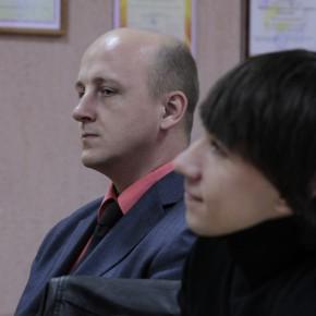 Михаил Шпилевский, Андрей Колесников консультируют молодого режиссёра (Видеорадиус, БНТУ, Минск, Беларусь, 2011 год)