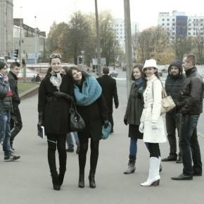 Студенты Минской киношколы-студии на съёмках фильма «View» (Минск, 2011 год). Фотограф— Михаил Шпилевский.