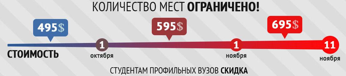 Стоимость участия в семинаре Олега Киршула в Минске, скидки