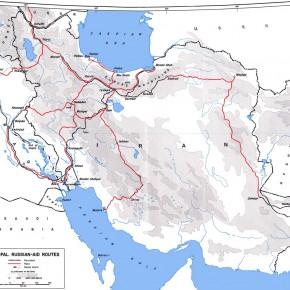 Карта основных маршрутов помощи СССР