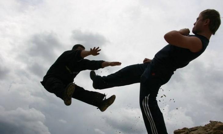 Исполнение трюков: удар (сайт Минской школы киноискусства)
