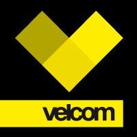 velcom: эмблема и логотип мобильного оператора Велком (жёлтые квадраты на чёрном фоне)