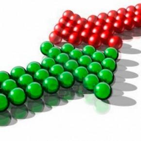 Противоречие, конфликт (красная изелёная стрелки)