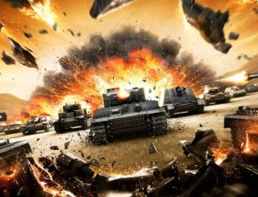 Wargaming: танки, выстрел, взрыв