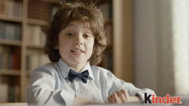 Kinder (шоколад): мальчик (сайт Минской школы киноискусства)