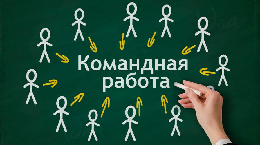 Мини-тренинг «Командная работа»: люди истрелочки (мел идоска) (сайт Минской школы киноискусства)