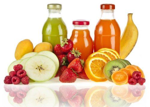 Соки вбутылках, фрукты, ягоды