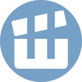 Минская школа киноискусства (эмблема-логотип: Ш-хлопушка)