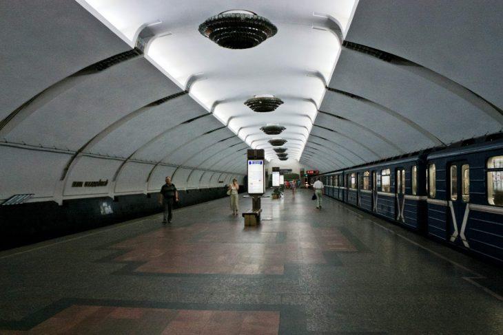 Станция метро «Парк Челюскинцев» (Московская линия Минского Метрополитена) (сайт Минской школы киноискусства)