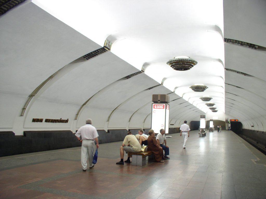 Станция метро «Парк Челюскинцев» (Московская линия Минского Метрополитена, Минск, Беларусь)