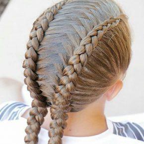 Волосы: сложные косы наженской голове
