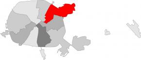Первомайский район Минска накарте города Минска (столица Республики Беларусь)