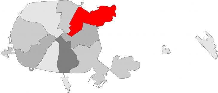 Первомайский район Минска накарте города Минска (столица Республики Беларусь) (сайт Минской школы киноискусства)