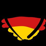 Deutsch (немецкий язык): сердце, цвета флага