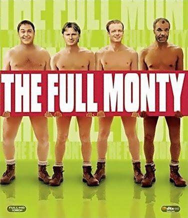 Баннер фильма «Мужской стриптиз» («The Full Monty», «Яйца, бобы ичиппендейлы», «Eggs, Beans and Chippendales»)
